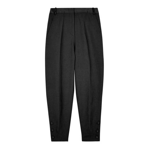 VICTORIA, VICTORIA BECKHAM Black Slim Cropped Trousers