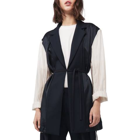 VICTORIA, VICTORIA BECKHAM Midnight Panelled Jacket