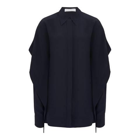 Victoria Beckham Navy Scarf Detail Shirt