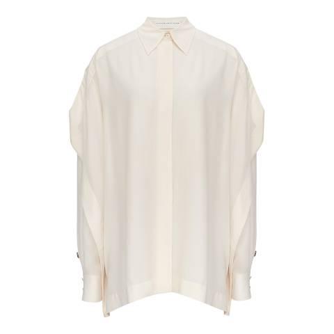 Victoria Beckham Vanilla Scarf Detail Shirt