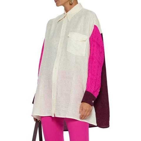 Victoria Beckham Multicolour Oversized Colour Block Shirt