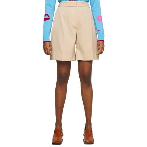 VICTORIA, VICTORIA BECKHAM Camel Tailored Shorts