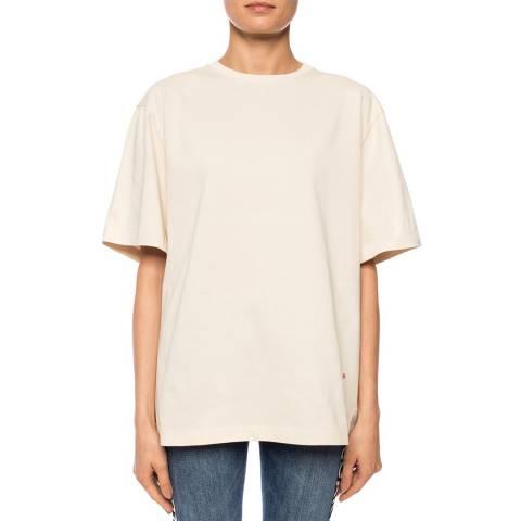 Victoria Beckham Ecru Classic Relaxed Fit T-shirt