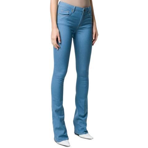 VICTORIA, VICTORIA BECKHAM Sky Blue Slime Flare Stretch Jean
