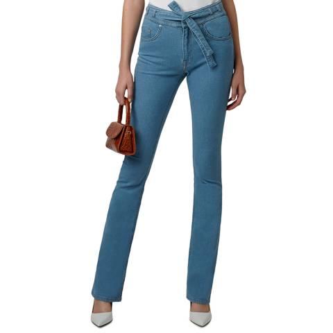 VICTORIA, VICTORIA BECKHAM 70'S Raw Slim Flare Star Jeans