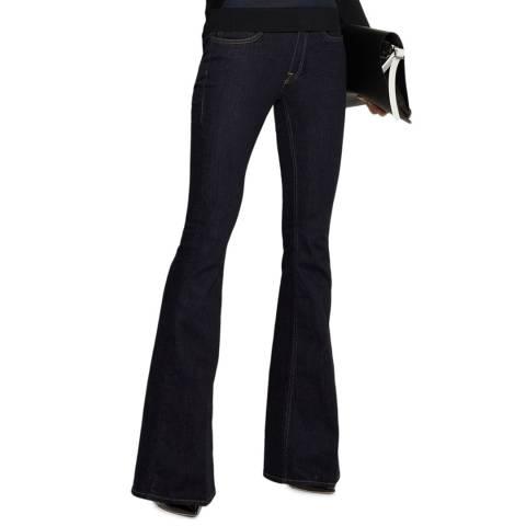 VICTORIA, VICTORIA BECKHAM Raw Flared Star Jeans