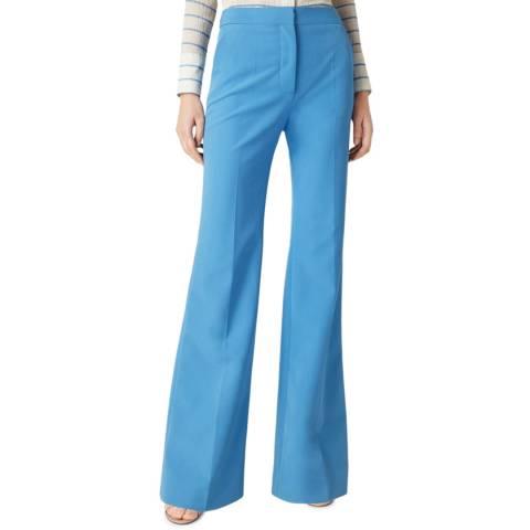 VICTORIA, VICTORIA BECKHAM Sky Blue Victoria Trouser