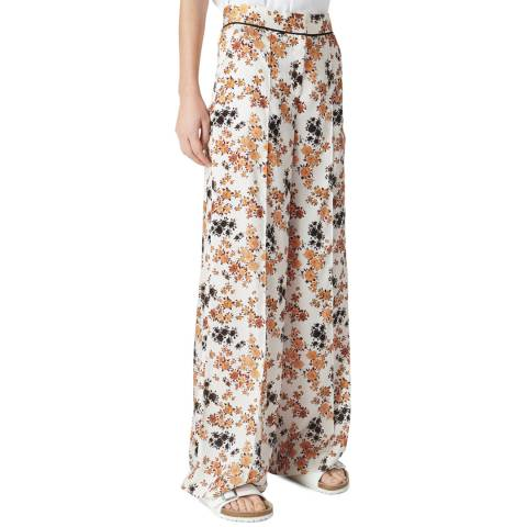 VICTORIA, VICTORIA BECKHAM Ditsy Mustard Pyjama Trousers