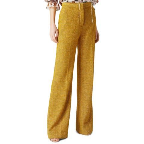 VICTORIA, VICTORIA BECKHAM Mustard Victoria Tailored Trousers