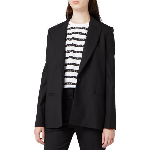 VICTORIA, VICTORIA BECKHAM Black Slim Tailored Jacket