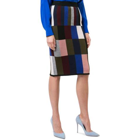 VICTORIA, VICTORIA BECKHAM Patchwork/Multi Border Trim Skirt