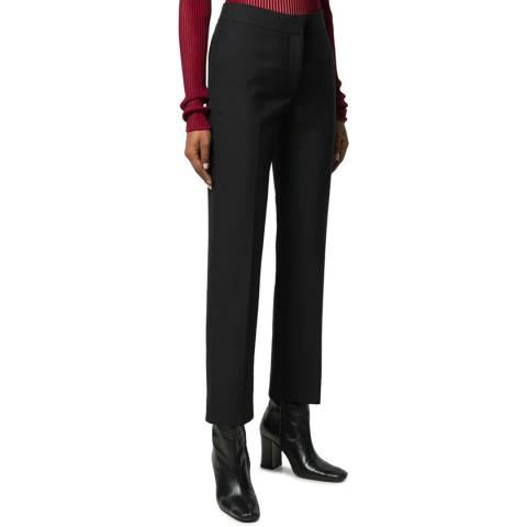 VICTORIA, VICTORIA BECKHAM Black Slim Trouser In Black