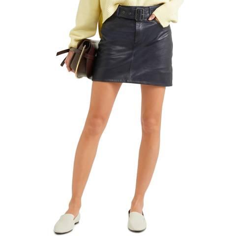 VICTORIA, VICTORIA BECKHAM Midnight Belted Mini Skirt
