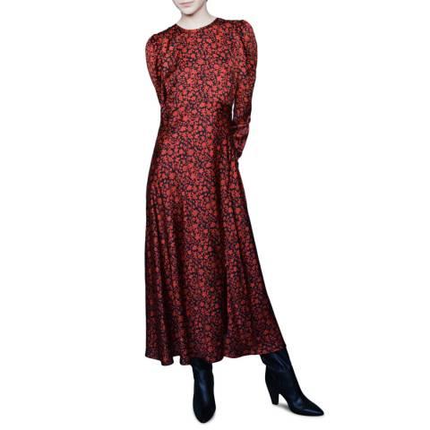 MAJE Red Ravie Maxi Dress