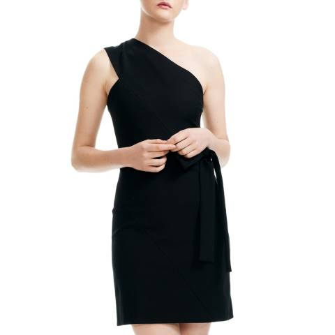 MAJE Black Mini Bow Tie Dress