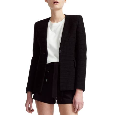 MAJE Black Fitted Smart Jacket