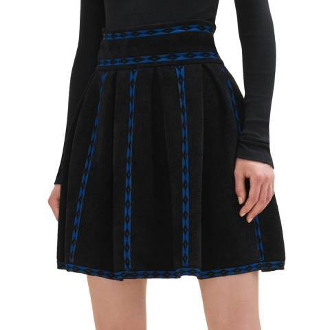 MAJE KNITTED JACQUARD SKIRT