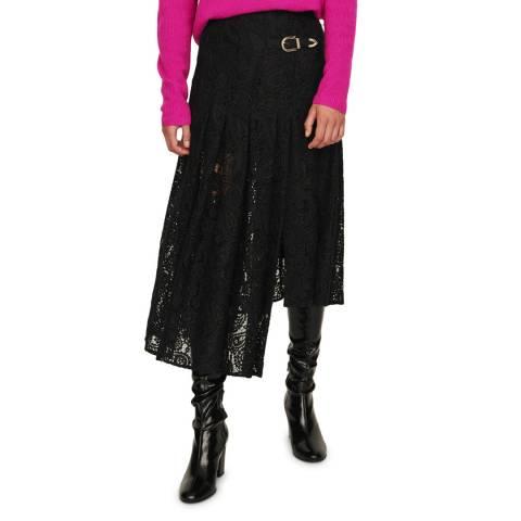 MAJE Black Jalilo Midi Skirt