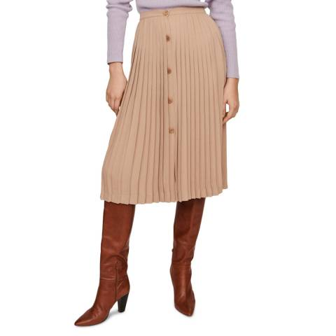 MAJE Beige Jintage Midi Skirt