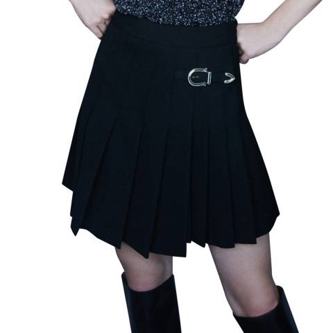 MAJE Black Mini Jino Pleated Skirt