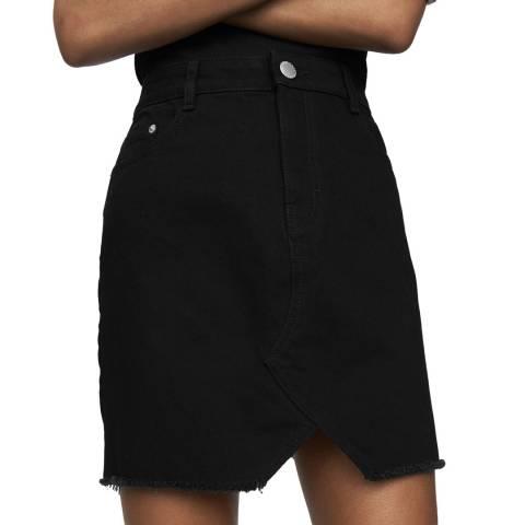 MAJE Black Mini Short Denim Skirt