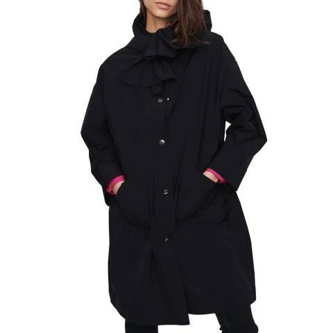 MAJE Black Gatox Wide Panel Coat