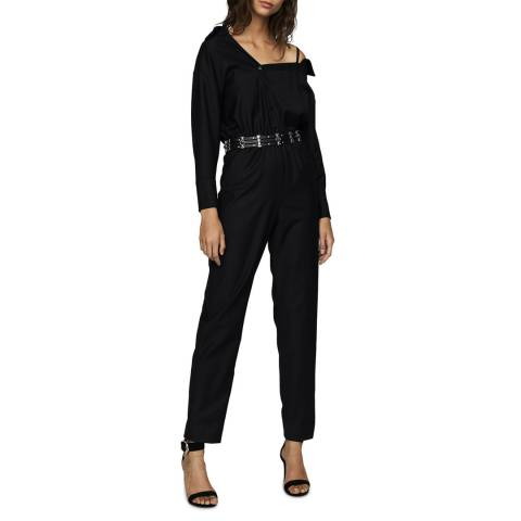 MAJE Black Pesto Wool Blend Jumpsuit