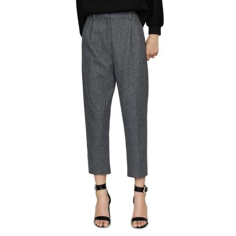MAJE Grey Ankle Length Smart Trousers