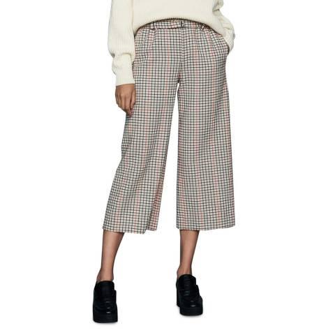 MAJE Multi Wide Leg Cropped Trousers