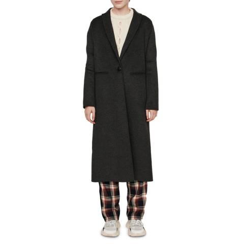MAJE Charcoal Galaxy Wool Coat