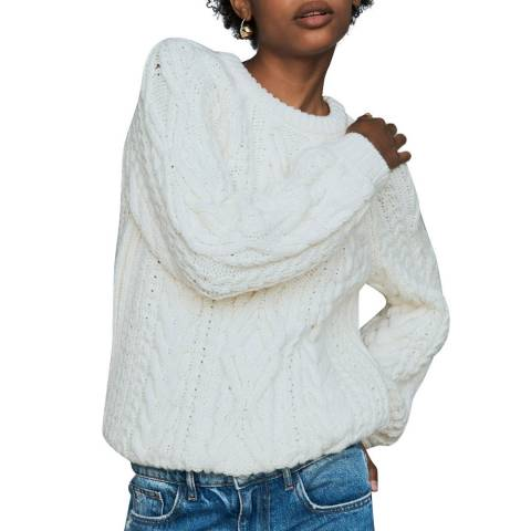 MAJE SWEATER WITH TWISTED DETAILS