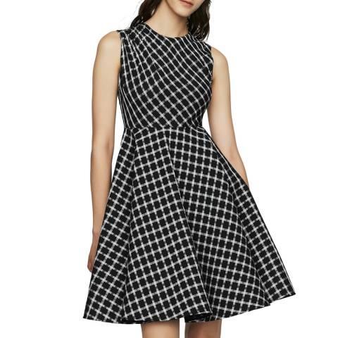 MAJE Black/White Skater Dress