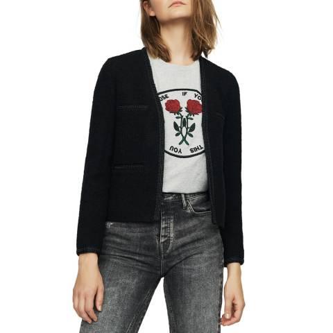 MAJE Black Long Sleeve Smart Jacket