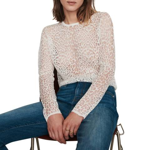 MAJE White Thibault Fitted Top