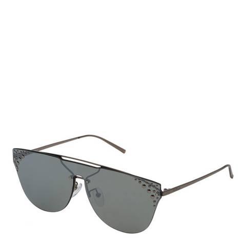 Furla Shiny Gunmetal Round Sunglasses