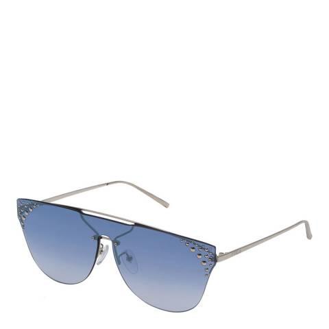 Furla Black Silver Round Sunglasses