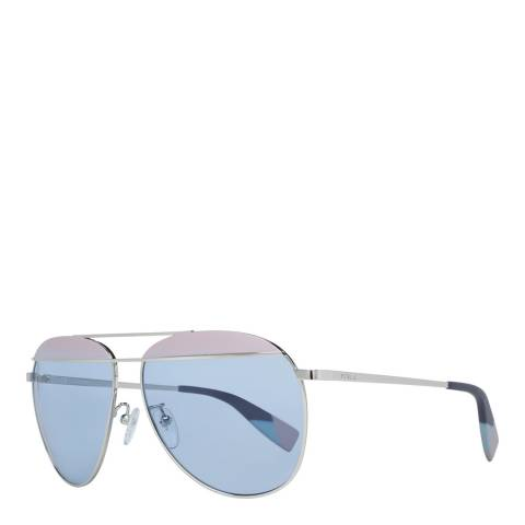 Furla Silver Blue Aviator Sunglasses