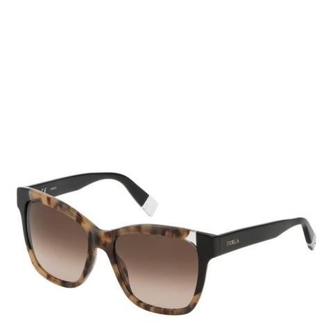 Furla Brown Beige Square Sunglasses