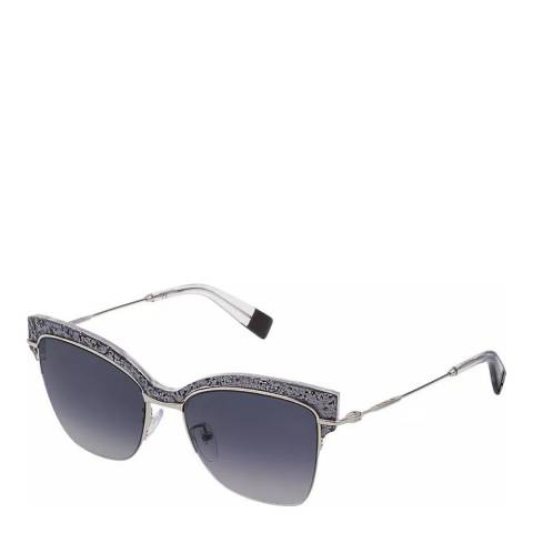 Furla Grey Silver Square Sunglasses