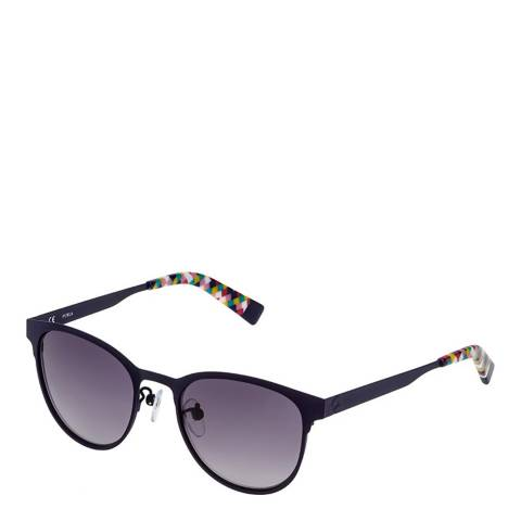 Furla Navy Blue Oval Sunglasses
