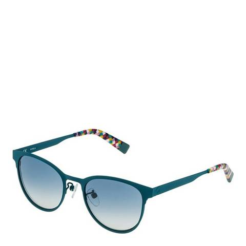 Furla Green Oval Sunglasses
