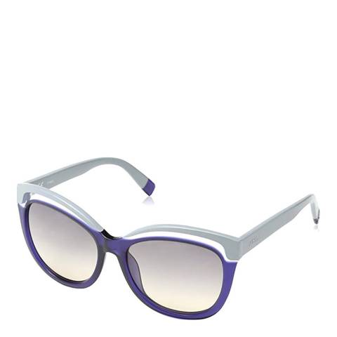 Furla Grey Blue Rectangle Sunglasses