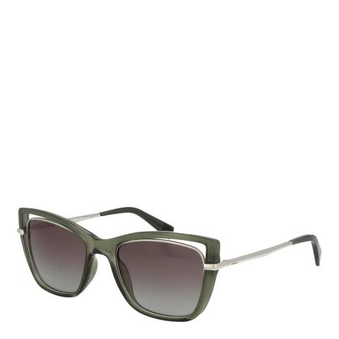 Furla Grey Green Square Sunglasses