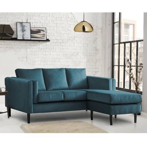 The Great Sofa Company Sandringham Corner Chaise Sofa Malta Peacock