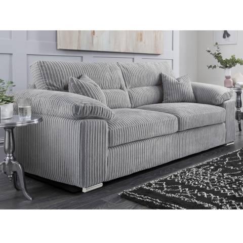 The Great Sofa Company Amalfi 3 Seater Sofa Metropolis Silver