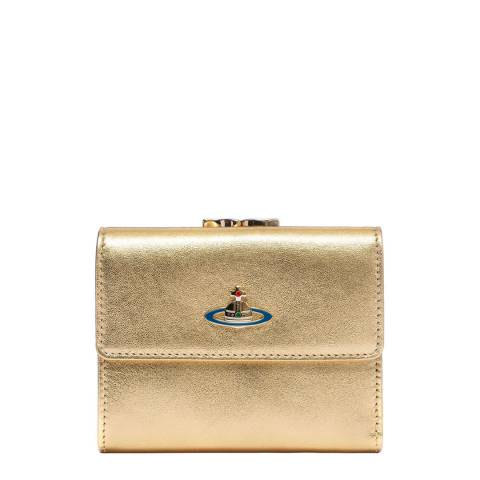 Vivienne Westwood Gold Nappa Medium Wallet
