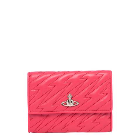 Vivienne Westwood Pink Coventry Credit Card Wallet With Zip