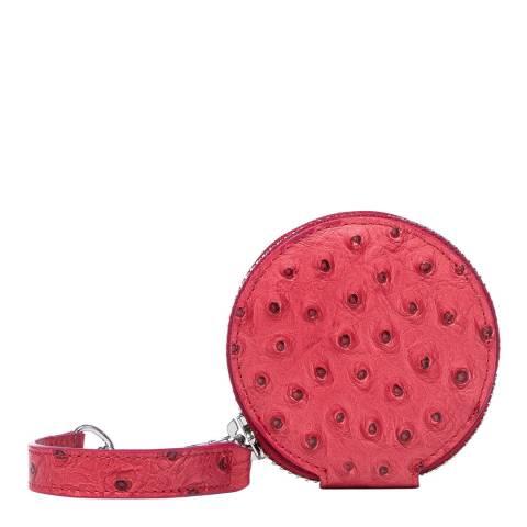 Vivienne Westwood Red Johanna Round Coin Case With Orb Gadget