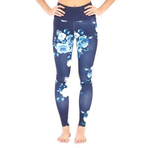 Electric Yoga Navy Vera Flower Leggings