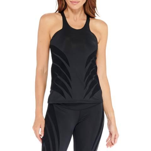Electric Yoga Black Luxy Velvet Flocked Top